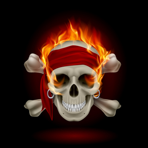 Flaming scull